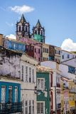 Historical centre Pelourinho, Salvador, Bahia, Brazil. Old houses and church towers in Historical centre Pelourinho, Salvador, Bahia, Brazil stock images