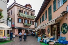 Centre of Stresa, Italy Stock Image