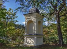Historical chapel on a hill in Karlovy Vary.  royalty free stock photo