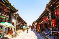 Historical Chinese town-Pingyao streets Stock Images