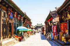Historical Chinese town-Pingyao streets Royalty Free Stock Photo