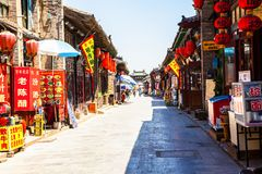Historical Chinese town-Pingyao streets Stock Photography