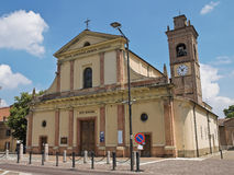 Historical church of Emilia-Romagna. Italy. Royalty Free Stock Photos