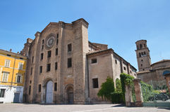 Historical church of Emilia-Romagna. Italy. Royalty Free Stock Image