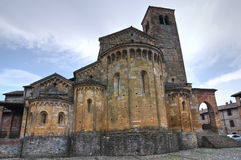 Historical church of Emilia-Romagna. Italy. Stock Photos