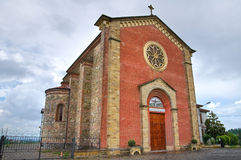 Historical church of Emilia-Romagna. Italy. Royalty Free Stock Images