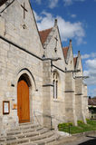 The historical church of Fourges in Eure Stock Photo