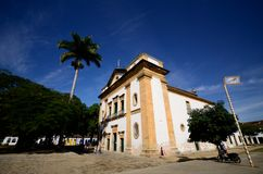 Historical church. Located at Paraty city, Rio de Janeiro Estate, Brazil Royalty Free Stock Image