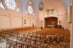 Historical church of Merlimont in Nord Pas de Calais Royalty Free Stock Photography
