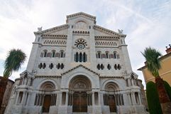 Historical church in Monaco Royalty Free Stock Images