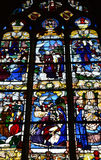 Historical church of Nogent le Roi in Eure et Loir Royalty Free Stock Image