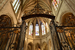 Historical church of Nogent le Roi in Eure et Loir Royalty Free Stock Photos