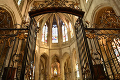 Historical church of Nogent le Roi in Eure et Loir Royalty Free Stock Photo