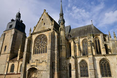 Historical church of Nogent le Roi in Eure et Loir Royalty Free Stock Photography