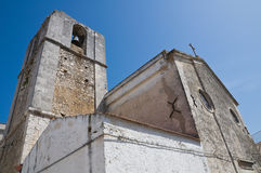 Historical church of Peschici. Puglia. Italy. Stock Images