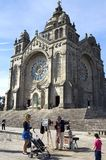 Historical church and photographer at work. Portugal, district and city Viana do Castelo, Costa Verde or Green Coast region. One highlight of the town is the Royalty Free Stock Photography