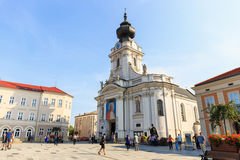 Historical city center of Wadowice. Royalty Free Stock Photos