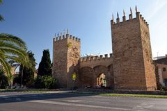 Historical City Gate in Alcudia Stock Image