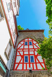 Historical city gate in Herborn, Germany. Historical city gate with half-timbered facade in Herborn, Germany Stock Images