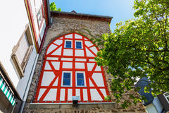 Historical city gate in Herborn, Germany. Historical city gate with half-timbered facade in Herborn, Germany Stock Photos