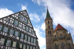 Historical city - I - Schorndorf - Germany. Schorndorf is a town in Baden-Württemberg, Germany, located approx. 26 km east of Stuttgart. This photo shows a Royalty Free Stock Photo