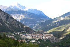 Historical City Of Briancon In Les Hautes Alpes, France Stock Photos