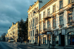 The historical city Piotrkow Trybunalski, central Poland, first jewish ghetto established by Germans in the occupied Poland. Stock Photography