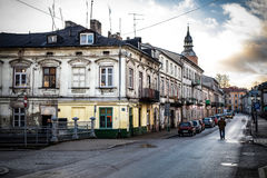 The historical city Piotrkow Trybunalski, central Poland, first jewish ghetto established by Germans in the occupied Poland. Royalty Free Stock Images