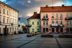 The historical city Piotrkow Trybunalski, central Poland, first jewish ghetto established by Germans in the occupied Poland. Royalty Free Stock Photos