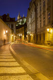 Historical City of Prague at night Royalty Free Stock Photo