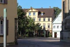 historical city schwaebisch gmuend catholic church details ornam royalty free stock photo