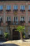 historical city schwaebisch gmuned details ornaments and facades Stock Photos