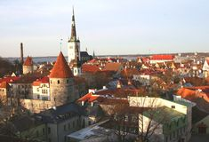 View at the Unesco city of Tallinn, Estonia Stock Photos