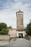Historical city tower in rothenburg. Royalty Free Stock Photography