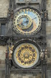 Historical clock. Historical astronomical clock in prague royalty free stock photos