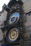 Historical clock Orloj in Prague stock photo