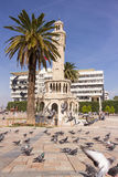 Historical Clock Tower of Izmir,Turkey Stock Photos