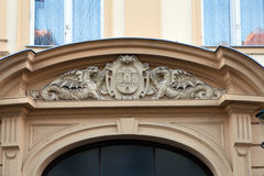 Historical coat of arms of the City of Zagreb. Over the front door of the old City Hall Royalty Free Stock Photography