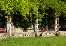 Historical Colonnade in a Park Stock Image