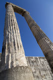 Historical column in Apollon temple from Didyma Turkey. 2014 Royalty Free Stock Image