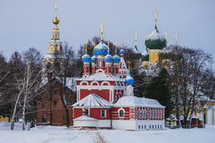 Historical complex of orthodox churches Stock Photos