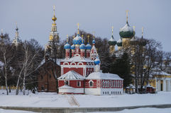 Historical complex of orthodox churches Royalty Free Stock Images