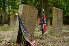 Historical confederate cemetery Stock Photos