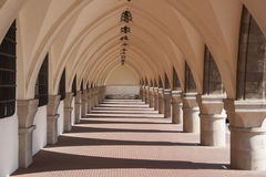 Historical corridor Royalty Free Stock Images