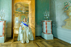 Historical cosplay. woman in the similitude of Catherine the Great, empress of Russia Royalty Free Stock Photo