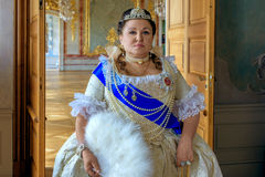 Historical cosplay. woman in the similitude of Catherine the Great, empress of Russia Stock Photos