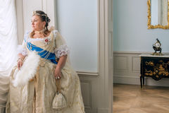 Historical cosplay. woman in the similitude of Catherine the Great, empress of Russia Stock Photography