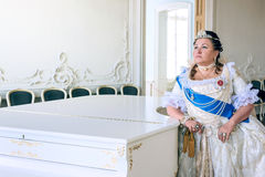 Historical cosplay. woman in the similitude of Catherine the Great, empress of Russia Stock Image