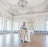Historical cosplay. woman in the similitude of Catherine the Great, empress of Russia Stock Images
