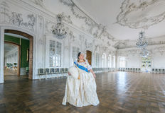 Historical cosplay. woman in the similitude of Catherine the Great, empress of Russia Stock Photo